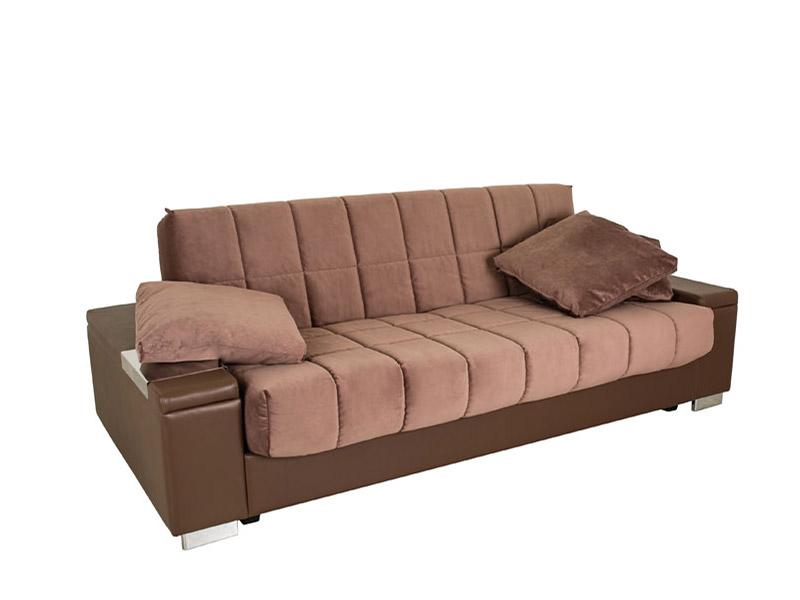 Коричневый диван Аскона