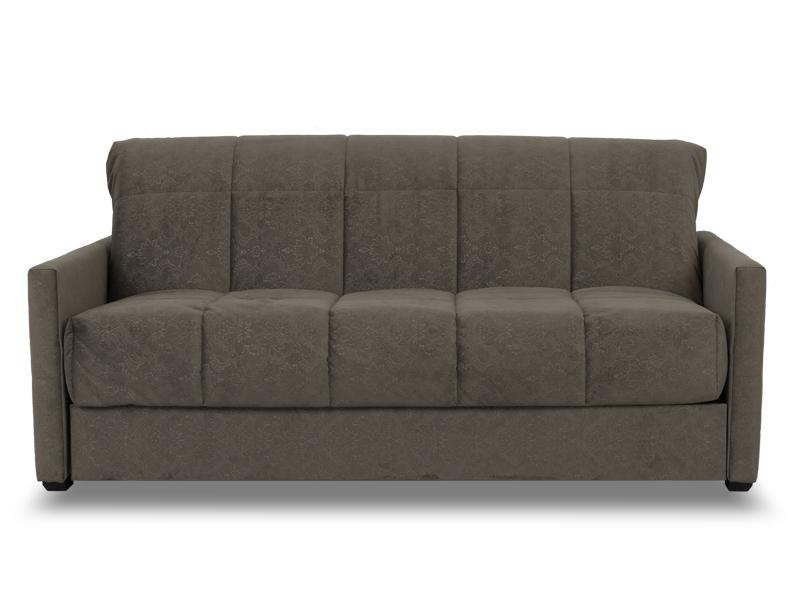 Серый диван с ортопедическим матрасом