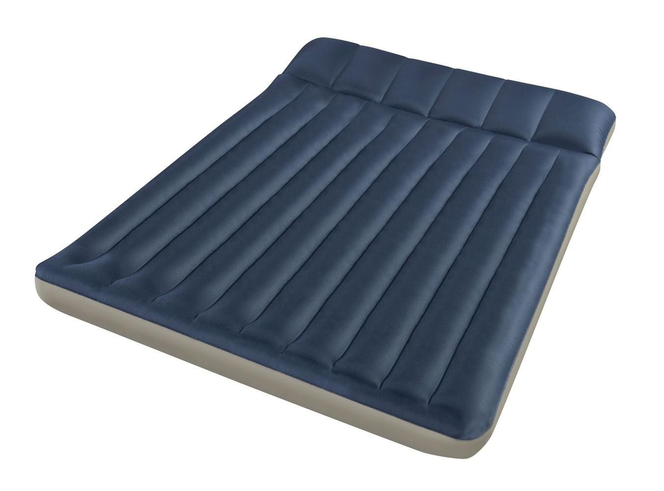 Синий надувной матрас для туристической палатки