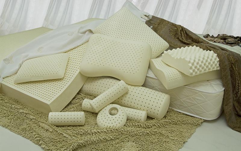 Латекстные подушки, матрасы и аксессуары