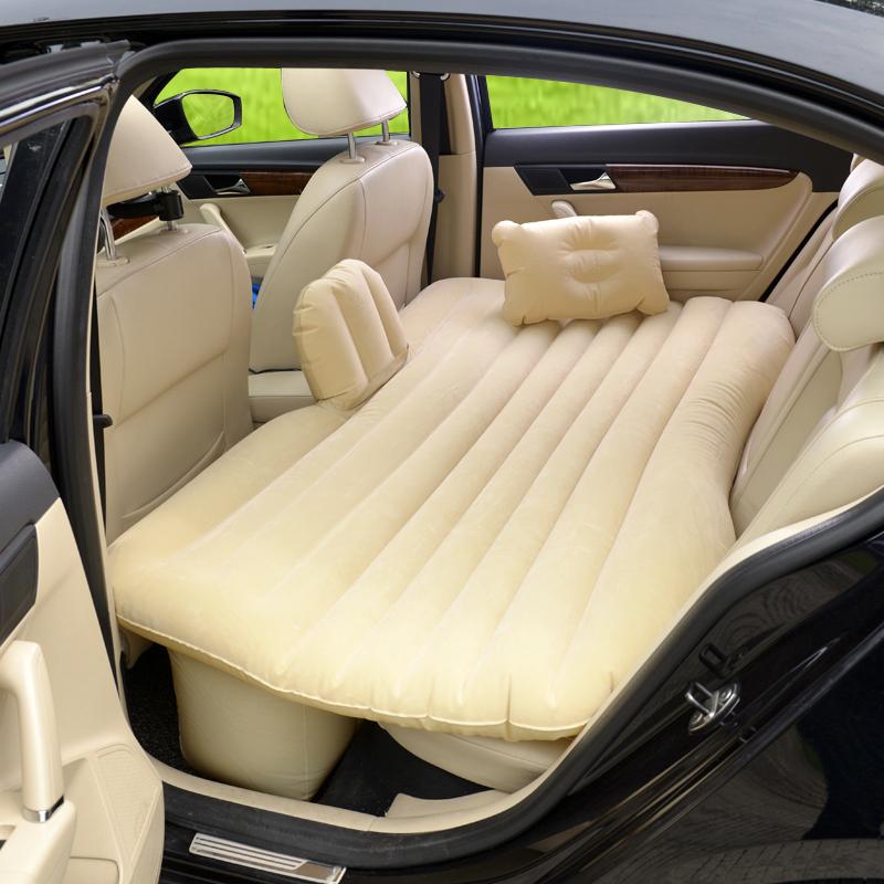 Бежевый матрас для заднего сиденья в машине