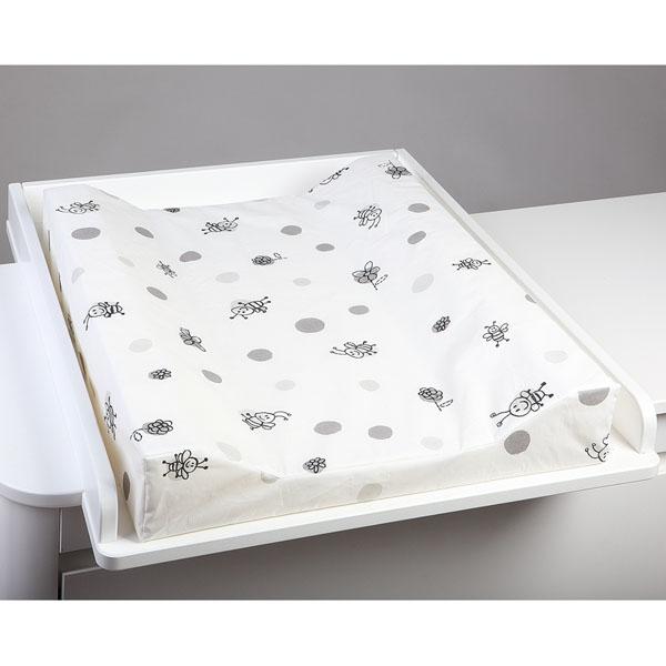 Съемный матрасик белого цвета с принтом