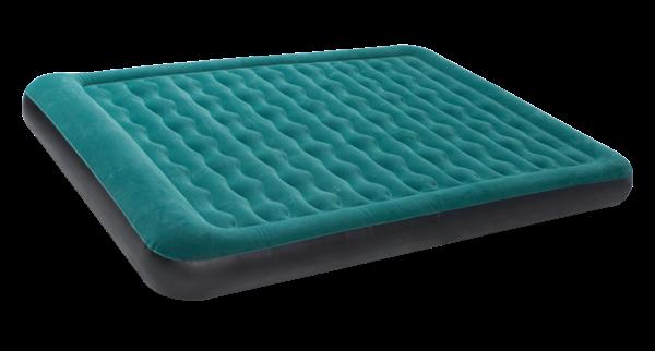 Зеленый надувной матрас для сна