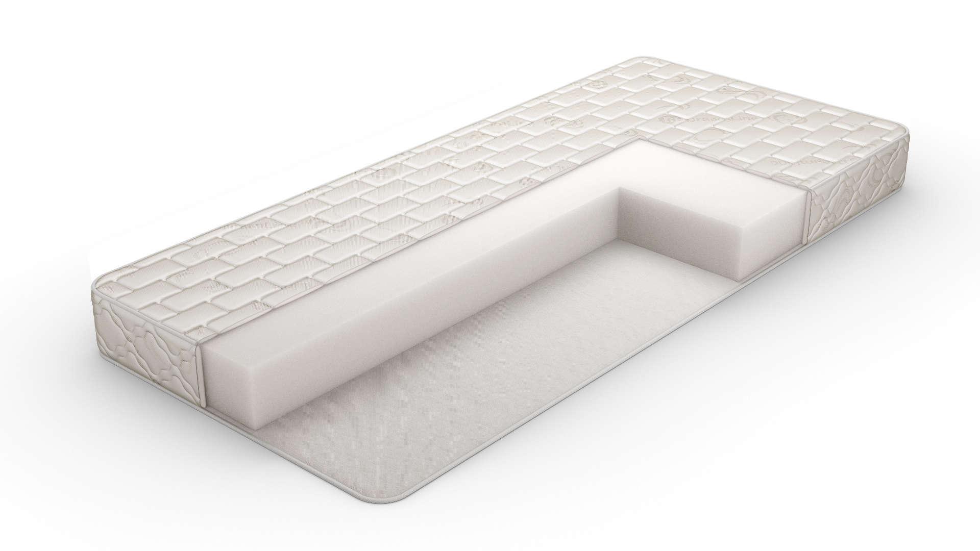 Пенополиуретановый матрас белого цвета