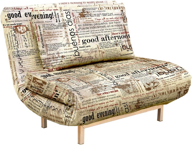Кресло-кровать с рисунком в виде шрифта