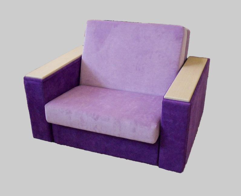 Фиолетовое кресло-кровать