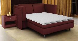 Топпер - тонкий матрас для дивана бордового цвета