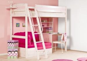 Кровать в комнату для девочки-подростка